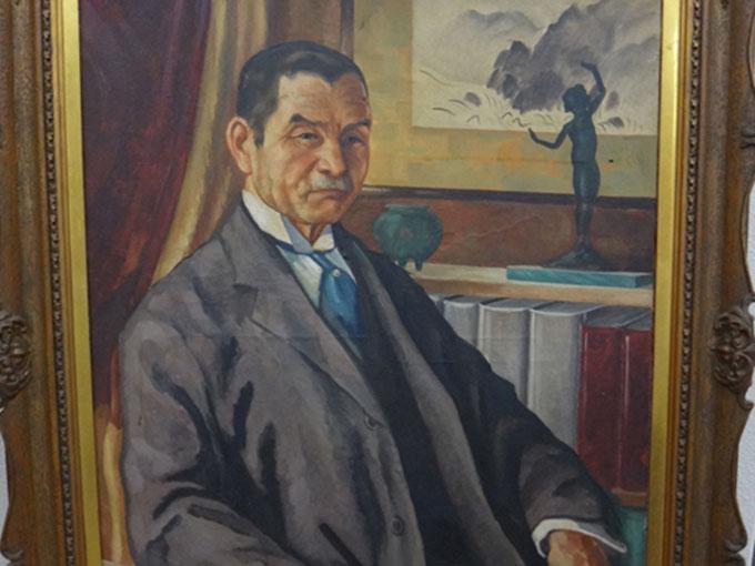 初代心理学教授松本亦太郎の肖像画(1928)-1