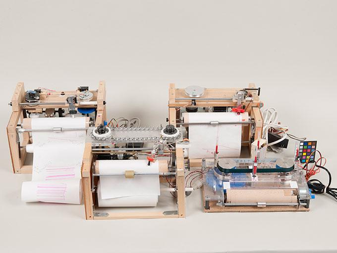■藤健一先生による動物実験用機器の動作模型2:累積記録器の模型-1