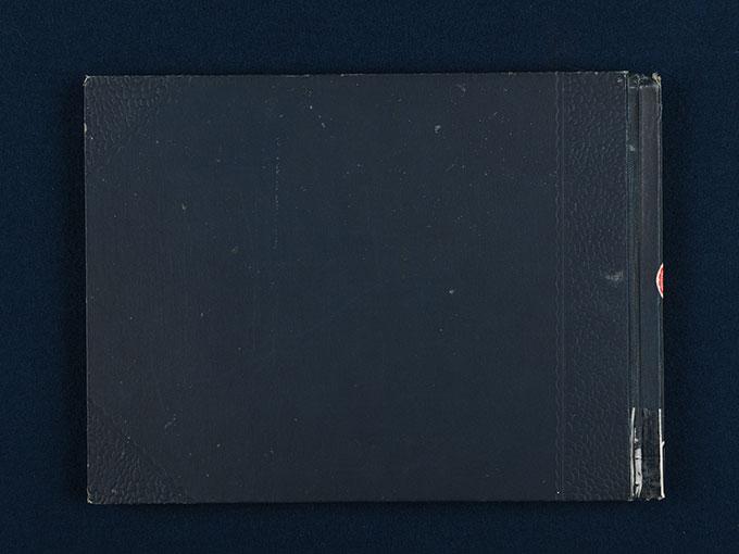 『実験心理写真帖』初版本の表紙と奥付-1
