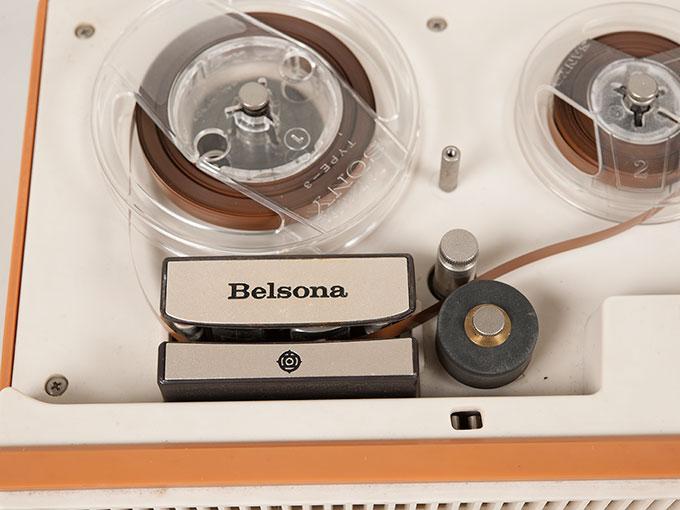 テープレコーダーBelsona TRQ-399オープンリール式ポータブルテープレコーダー12