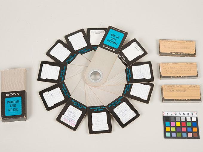 プログラム磁気カードソニープログラム電卓(SOBAX)用プログラム磁気カード