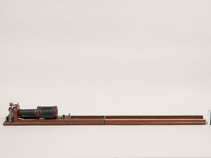 滑動感応器Schlitteninduktions Apparat nach Du Bois-Reymond, 最小可聴音検査器(横型) デュボアレーモン滑走聴覚計2