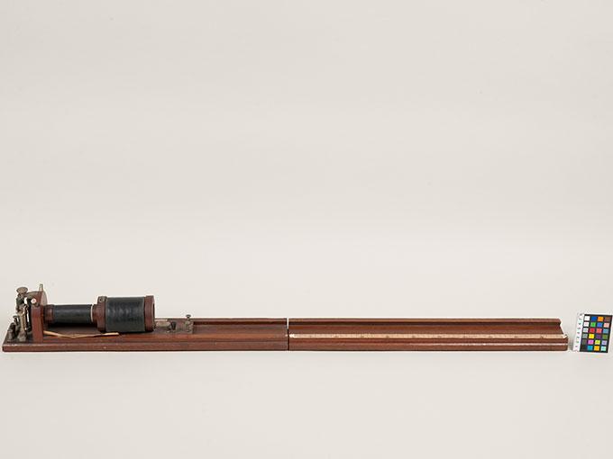 滑動感応器Schlitteninduktions Apparat nach Du Bois-Reymond, 最小可聴音検査器(横型) デュボアレーモン滑走聴覚計3