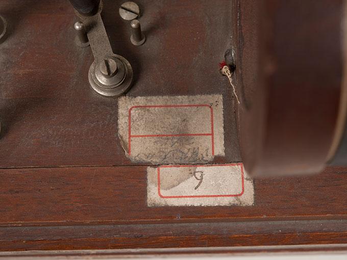 滑動感応器Schlitteninduktions Apparat nach Du Bois-Reymond, 最小可聴音検査器(横型) デュボアレーモン滑走聴覚計9