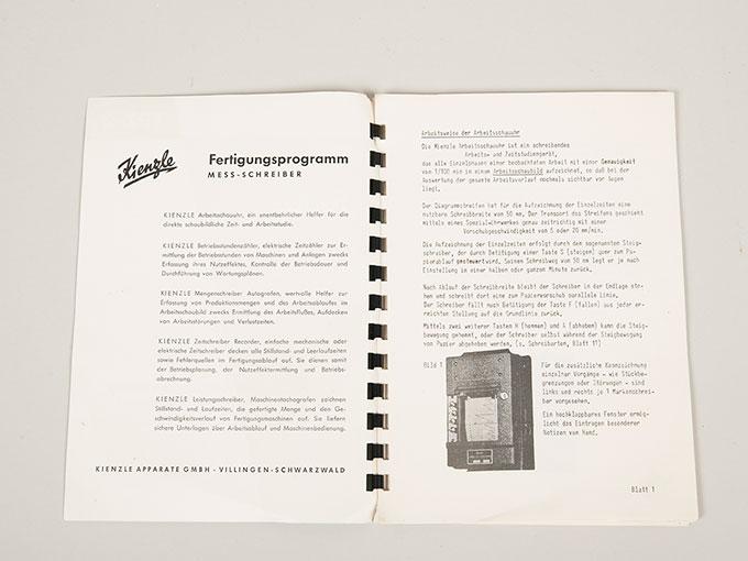 作業記録時計Arbeitsschauuhr10