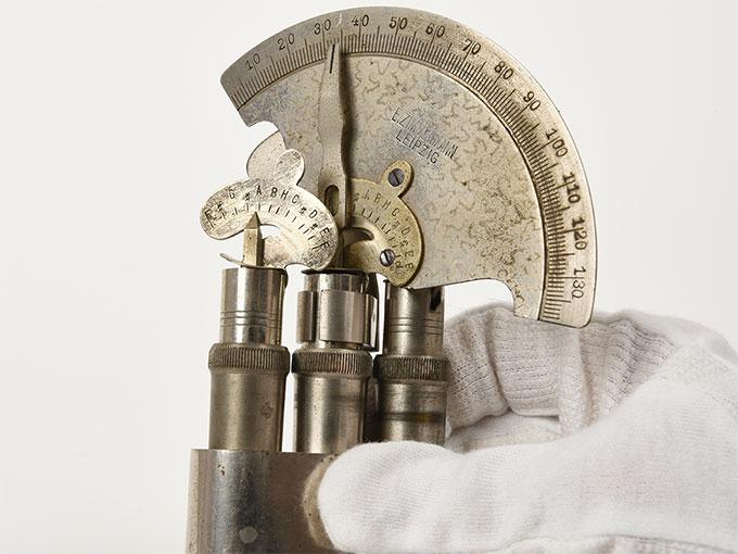 Reise tonometer/携帯型音響発生器ホルンベスデルの携帯型音響発生器Reisetonometer nach Hornbostel2