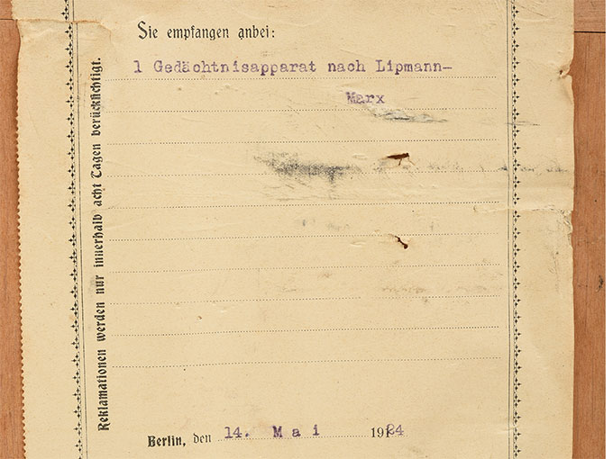 刺激続出器Gedachtnisapparat nach Lipmann記憶力検査器22