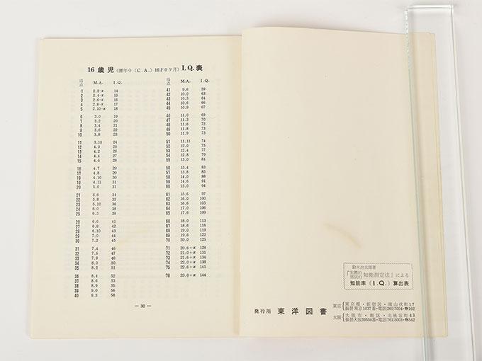 知能検査器鈴木ビネー式 個別・知能検査9