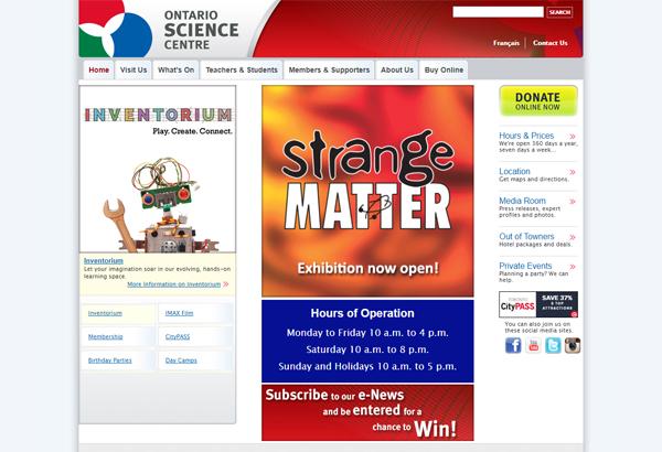 Ontario Science Center (オンタリオ・サイエンスセンター)